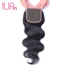 $enCountryForm.capitalKeyWord UK - IUPin Company Remy Peruvian Virgin Hair Body Wave Closure 1 Piece Wet And Wavy Human Hair Extensions Peruvian Body Wave Hair Lace Closure
