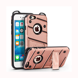 Rubberized Phone Cases NZ - PC Case For Iphone X 7 I7 Plus 6 6S Samsung J2 J5 J7 Prime 3 in 1 Rubberized Stand Shockproof Phone Cover