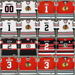 Chicago Blackhawks Jersey Mens 00 CLARK GRISWOLD Christmas Vacation 1 GLENN  HALL 2 BILL WHITE DUNCAN KEITH Vintage Throwback Hockey Jerseys cheap  blackhawks ... 8dc3c7ca9