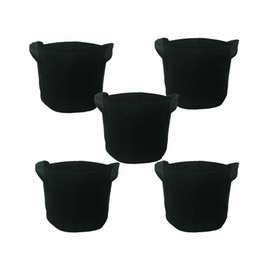 Chinese  GROWBAG 1-Gallon Grow Bags Fabric Aeration Pots Container with Strap Handles for Nursery Garden and Planting Grow (Black) manufacturers