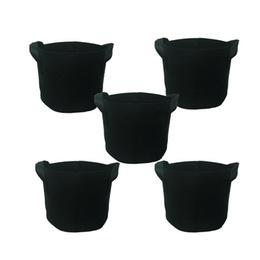 GROWBAG Bolsas de cultivo de 1 galón Bolsas de aireación de tela Contenedor con asas de correa para jardín de guardería y crecimiento de plantación (negro)