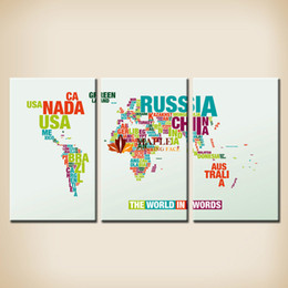 $enCountryForm.capitalKeyWord Australia - 3 Pcs Wall Art Map Wall Picture HD Top-rated Canvas Print Large Canvas Painting Modern Painting Home Decoration For Living Room