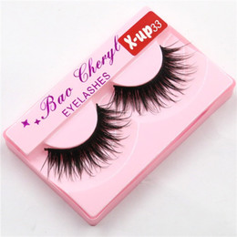 Discount x lashes - 100%Supernatural Lifelike handmade false eyelash 3D strip mink lashes thick fake faux eyelashes Makeup beauty X-UP33