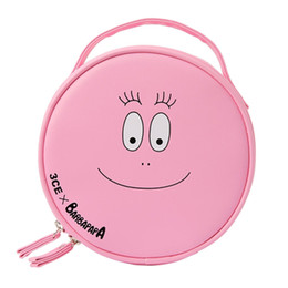 LoveLy korean cartoon girL online shopping - 2017 Barbapapa Cartoon Cute Girls Pink Lovely Cosmetic Bags Cases Travel Toiletry Bag Storage Organizer Bag Fashion Makeup Bag