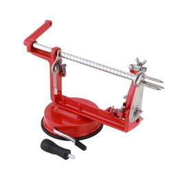 slice peeler Canada - 2016 3 in 1 apple peeler fruit peeler slicing machine   stainless steel apple fruit machine peeled tool Creative Home Kitchen