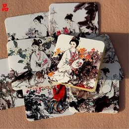 Wholesale- Hot Sale Original Chinese Style Classical Ladies Thanks Giving Card Festival Greeting Card Creative Paper Art Stationery Gift PL cheap chinese lady art from chinese lady art suppliers