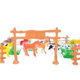 $enCountryForm.capitalKeyWord NZ - 15pcs lot Simulation Farm Animal Mini Action Figure Toys Children Game Toy Kids Puzzle Education Toy Gifts