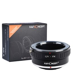 China Wholesale- K&F Concept C Y-FX Lens adapter ring for contax yashica Lens to for Fuji Xpro1 X-E1 camera body free shipping supplier fuji lens suppliers