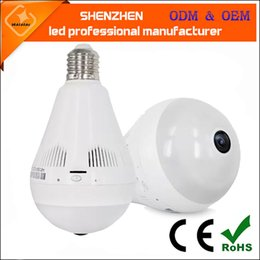 Bubble Ball Bulb Lamp NZ - new arrival LED wireless network wifi APP intelligent control, ball bubble lamp, panoramic camera, monitoring bulb