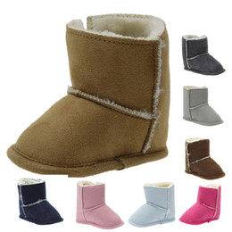 Bottes De Fourrure Pour Bébés Pas Cher-Winter Super Warm Newborn Baby Boys Garçons First Walkers Chaussures Infant Toddler Soft Bottom Anti-slip Baby Boots Bottes en fourrure