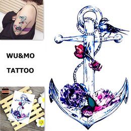 Animaux Tatouages ​​temporaires Pas Cher-New Arrival Colorful Painting Animals Fake Flash Sexy Body Art Tatouages ​​temporaires pour homme Femme 150x105mm