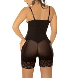 Barato Hot Girls Corsets-Venda Por Atacado - Hot New Sexy Lace Zip Girls Cintura Trainer Tummy Control Mulheres Cintura Bodycon Corsets Cincher Body Shaper Bodysuits Butt Lifter