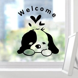 bathroom funny wall stickers NZ - % Welcome Kids Room Dogs Door Sticker Funny Toilet Bathroom car glass Wall Stickers Home Decoration decals Wallpaper art poster