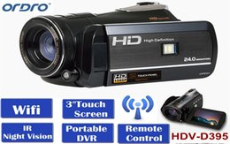Digital camera controls online shopping - Ordro Digital Video Camera HDV D395 Infrared Night Vision Camcorder Wifi HD P fps with Remote Control Dual LED Lights