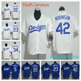 5a4234b0d Stitched MLB Jersey Youth Los Angeles Dodgers Jersey 5 Corey Seager 22  Clayton Dodgers 34 Fernando Valenzuela ...