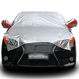 Front End Car Canada - Waterproof Size M L XL SUV Full Car Cover Sun Snow Dust Rain Resistant Gray for Commercial Vehicles