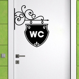 $enCountryForm.capitalKeyWord Canada - Hot Sell Wall Decal Vinyl Sticker Art WC Bathroom Toilet Creative Door Window Removable Home House Decoration Mural Poster 20*25 cm*3