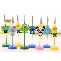 6pcs lot cute cartoon stand desk card note picture memo photo clip holder table wedding party place favor gift kid prize