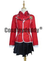 Chinese  Guilty Crown Inori Yuzuriha School Girl Uniform Cosplay Costume manufacturers