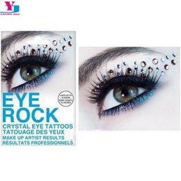 Autocollants Pour Les Yeux Pas Cher-Vente en gros - 3D RhinestoneTemporary Tattoo Eyeshadow Sticker Crystal Eye Rock Glitter Party Maquiagem Beauty Women Dress Eye Shadow Brand N