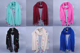 Muslims Scarves Canada - Wholesale-women fashion printe solid color tassels plain 100%viscose plain shawls long wrap hijab muslim scarves scarf 10pcs lot