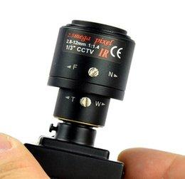 Камера высокого разрешения 700tvl Vari-фокусная Миниая с аудио, 2.8-12mm ручная Varifocal камера объектива Миниая.Бесплатная доставка DHL / EMS на Распродаже
