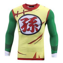 $enCountryForm.capitalKeyWord Australia - Cartoon Printed 3D Men T-shirt Compression Shirts Slim Fit Skin Tight Long Sleeve Male Bodybuilding Crossfit Oversized Shirt XXL BL-045