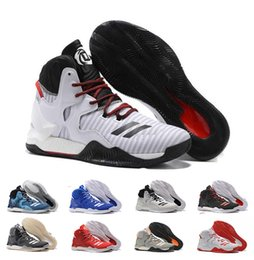 c7c46be66342 2016 D Rose 7 Boost Basketball Shoes Men Boosts Hot Sale Derrick Rose shoes  6 7 VII Florist City White Boost Sports Sneakers Size 40-46