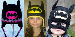 Barato Bebê, Batman, Beanie-Batman Mask Super Hero Hat Baby Kids Infant Toddler Boys Meninas Newborn Winter Children Beanie Crochet Knitted Skull Caps Cotton Photo Props
