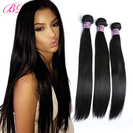 processed straight hair Canada - BD Silky Straight Human Hair Extensions Remy Peruvian 4 Bundles Straight Hair Within One Free Bundles
