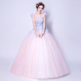 $enCountryForm.capitalKeyWord Canada - 100%real fairy light pink blue flowers fairy cosplay ball gown royal princess Medieval Renaissance Victorian dress Belle ball