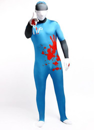 DHL Lake Blue Full Body Spandex Lycra Catsuit Halloween Jumpsuit Unitard Sexy