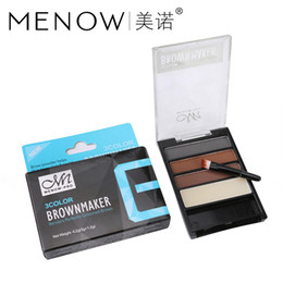 powder natural Canada - 48Set M.n Menow Natural eyebrow three-dimensional high-light powder waterproof LongLastingeasy to color is not blooming DHL E16001