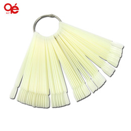 Wholesale Hot Sell x Fan shaped Natural False Nail Art Tips Sticks Polish Display