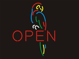 Parrot disPlay online shopping - Fashion Handcraft Open Parrot Real Glass Beer Bar Display neon sign x15 Best Offer