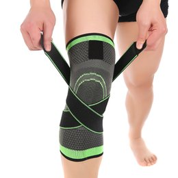 Wholesale D weaving pressurization knee brace basketball tennis hiking cycling knee support professional protective sports knee pad