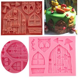 $enCountryForm.capitalKeyWord NZ - Free Shipping Fairy tale cottage silicone soap mold window door fondant mould cake decorations Chocolate baking tool