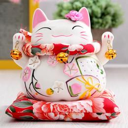 Ceramics Arts Canada - Ceramic Lucky Cat ornaments large Japanese ceramic piggy piggy bank creative gift shop opened decoration