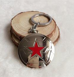superhero keychains 2019 - Hot Sale Movie Captain America Key Chain Superhero Shield Pendant Alloy Key Ring 2 Colors Movie Jewelry discount superhe
