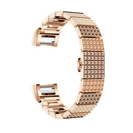 $enCountryForm.capitalKeyWord UK - Fitbit Charge 2 Bands,Metal Stainless Replacement Metal Bands with Crystal Rhinestone Replacement Bands for Fitbit Charge 2 Chocolate