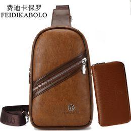 b41dfa4036 Brand Bag Men Chest Pack Retro Single Strap Back Bag Split Leather Men  Crossbody Bags Male Shoulder Travel chest bag
