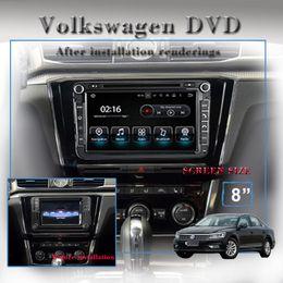 Car Dvd Jetta Canada - 8.0inch Quad-core 1024*600 HD screen Android 8.1 Car Stereo Radio gps Car DVD Navigation For VW Passat Golf Polo CC Jetta Skoda Seat