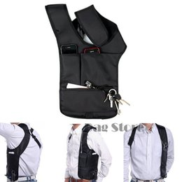 Discount best black bodies - Wholesale- Fashion Nylon Anti-Theft Hidden Underarm Shoulder Bag Holster Black Multifunction Magic Bag Best Gifts For Me