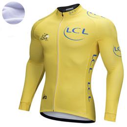 48a2a29d1 2018 Yellow Pro team Winter Fleece Cycling Windproof Windjacket Thermal mtb  Biking Coat mens warm up jacket