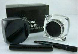 Gel Eyes Liner Australia - FREE SHIPPING!high quality makeup waterproof eyeliner gel,makeup eye liner 5.5g(5PCS LOT)