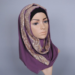 glitter shawl muslim Canada - Wholesale- solid color GLITTER flower chiffon silk popular shawls muffler headband hijab summer muslim scarves scarf
