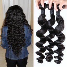 High Quality Bundle Human Hair NZ - Peruvian Hair Wefts 3pcs Wholesale Price Virgin Loose Wave Human Hair Bundles High Quality FDSHINE HAIR