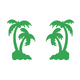 Handicrafts Vinyl Decals Car Stickers Glass Stickers Scratches Stickers Wall Die Cut Bumper Accessories Jdm 11cm x 16cm Palm Tree