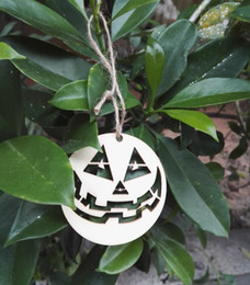 Wholesale halloween decorations halloween laser cut wood pumpkins small halloween party ornaments decorative party decoration festival party suppliers