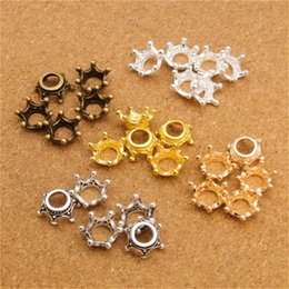 crown charm pendant antique bronze 2019 - 100pcs lot Antique Bronze and Silver Crown Charms Pendant DIY Bracelets Necklace for Jewelry Accessories Jewelry Alloy C